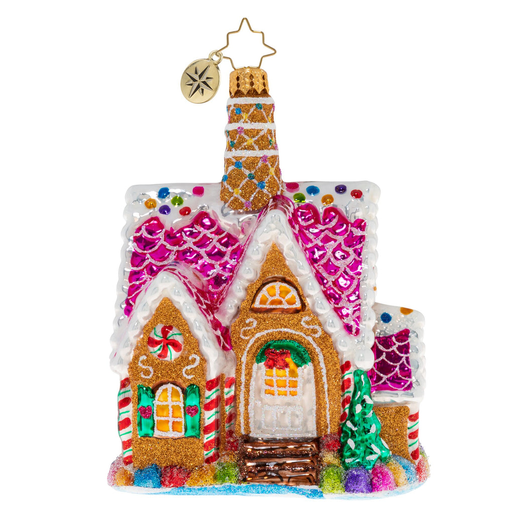 Christopher Radko A Delectable Dwelling Candy House Ornament