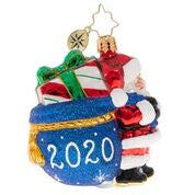 "Christopher Radko 2020 Dated Santa's Delivery Gem 3"" Ornament"