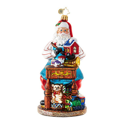 Radko Desk of Delights Toymaker Santa ornament NEW