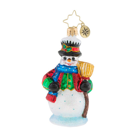 Christopher Radko Dickensian Snowman Little Gem