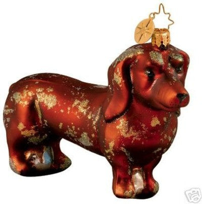Radko DIGGETY DAWG Dog Dachsund Ornament New