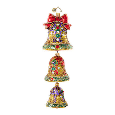 Radko DIGNIFIED JINGLE Bells Trio Christmas ornament NEW