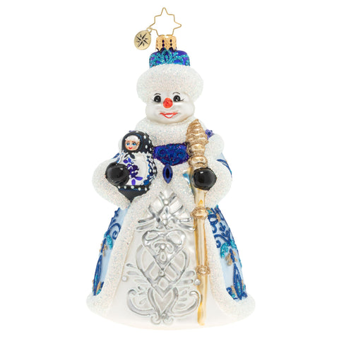 Christopher Radko All Dolled Up Snowman Matryoshka Russian Doll Ornament