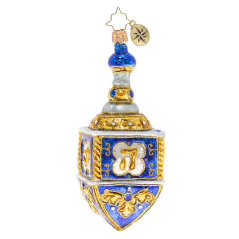 Christopher Radko Dreidel 2020 Hanukkah Ornament