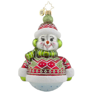 Radko DRESSED TO CHILL Snowman Ornament NEW
