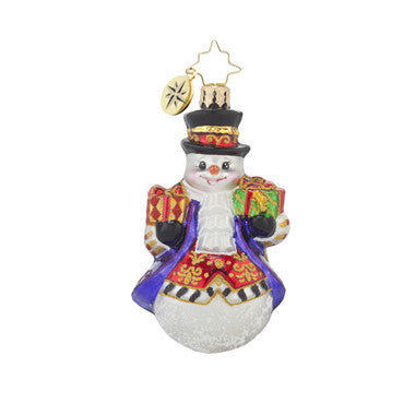 Radko Little Gems ELEGANT ADAM Snowman ornament NEW