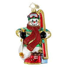 Radko IN HIS ELEMENT SKIER snowman ornament NEW