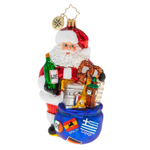 Christopher Radko Santa's European Adventure! Ornament