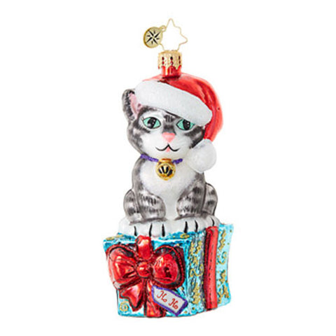 Radko FABULOUS FELINE Cat Kitten Christmas Ornament New 2017