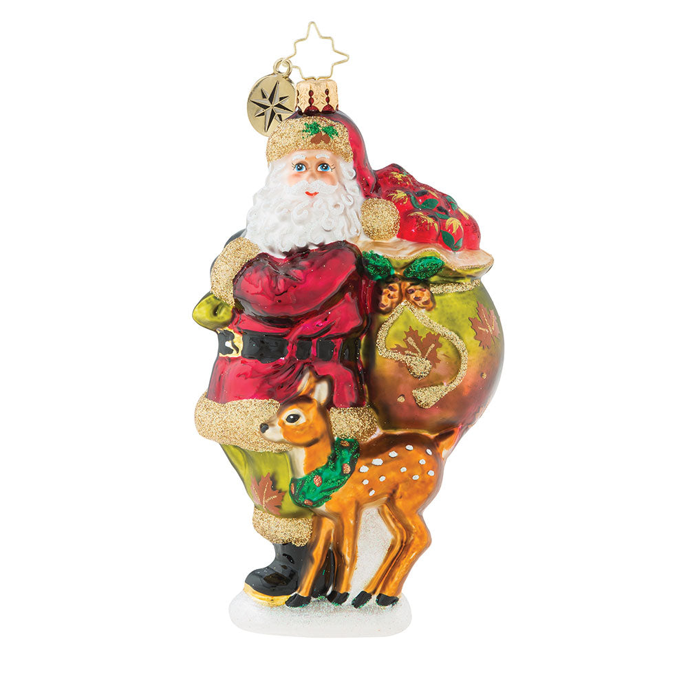 Christopher Radko Falling Into The Holidays Santa Fall Ornament