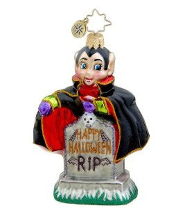 Radko HALLOWEEN Fangs for the Memories Dracula ornament Retired