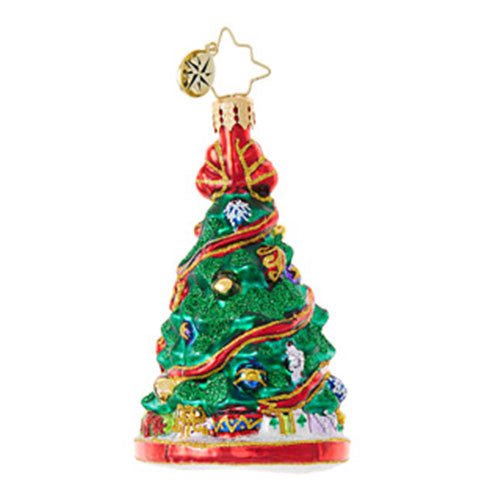 Christopher Radko FESTOONED FIR Christmas Tree GEM Ornament