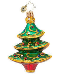 Radko LITTLE GEMS Filigree Fir TREE gem ornament NEW