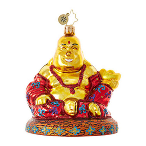 Radko FIND YOUR ZEN Buddha Christmas ornament NEW