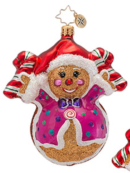 Radko FRED AND GINGER Gingerbread Cookie Couple ornament NEW
