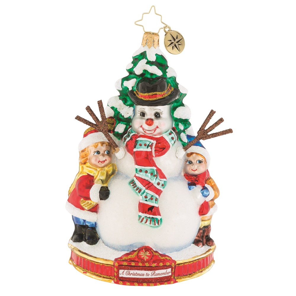 Christopher Radko Frosty Fun Snowman Christmas Ornament