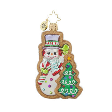 Christopher Radko FROSTY SWEET TREATS GEM Snowman Cookie ornament