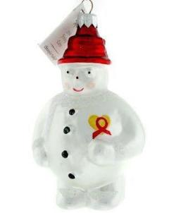 Radko AIDS 1994 #2 FROSTY CARES Christmas Ornament