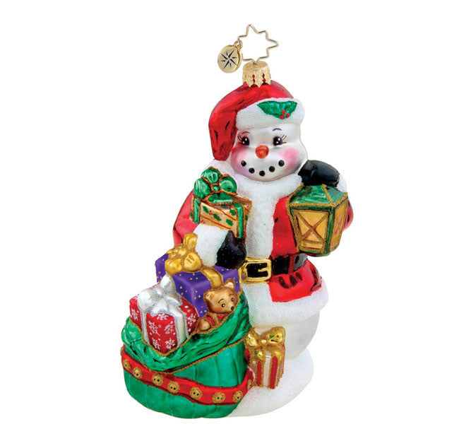 Radko FROSTY SUBSTITUTE Snowman ornament SALE 30% off