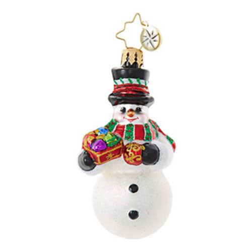 Radko Little Gems FROSTY TRIMMINGS Snowman Gem Ornament New 2017