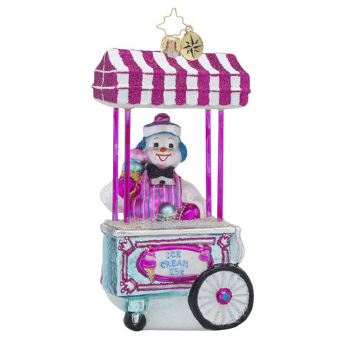 Radko Gelato for All Ice Cream Stand ornament NEW
