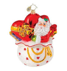 Christopher Radko GIFT OF HEART Santa Charity ornament