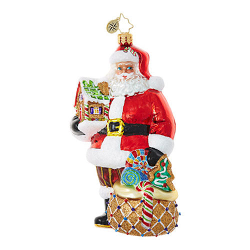 Christopher Radko Gingerbread Jubilee Santa Ornament