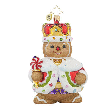 Radko GINGER KING Gingerbread Boy ornament New