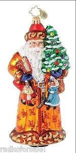 Christopher Radko GOLD BALMORAL SANTA 25th ornament