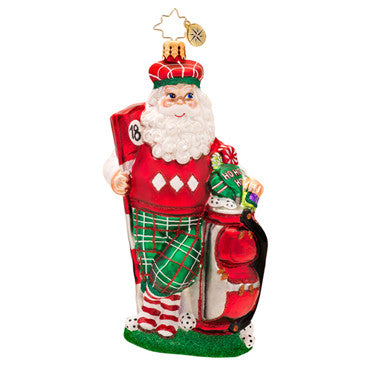 Radko GOLFIN ON THE GREEN Santa Golfer Golf ornament NEW