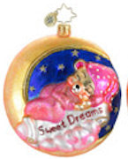 Radko Baby GOODNIGHT MOON Pink Girl Christmas ornament NEW