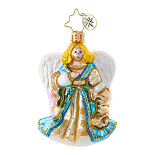 Christopher Radko GRACEFUL PRESENCE Little Gem Angel Ornament
