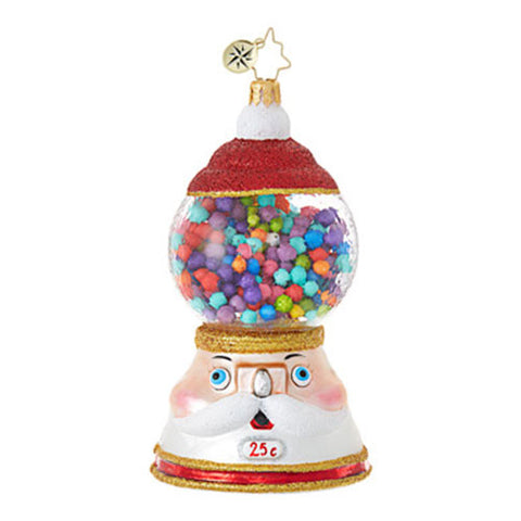 Radko GUMBALL BLITZ Bubble Gum Ball Machine Christmas ornament NEW
