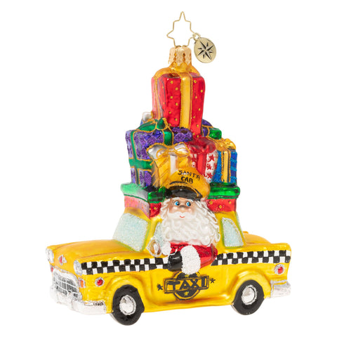 Christopher Radko Hailing A Holiday Cab Taxi Ornament