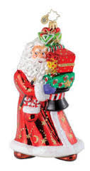 Radko HOLIDAY HOUDINI Santa Magician Magic ornament NEW