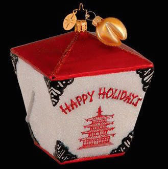 Radko HOLIDAZE FORTUNE Chinese TAKE OUT food ornament NEW