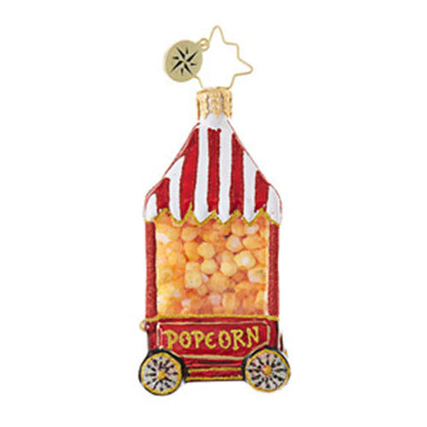 "Christopher Radko HOT POP Popcorn Little 3"" Gem Ornament NEW"