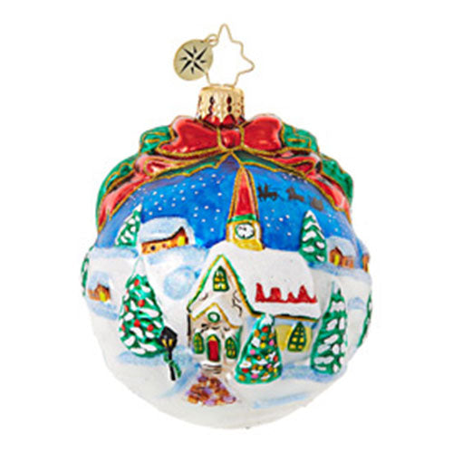 Christopher Radko Inspiring Santa Silhouette Ball Ornament