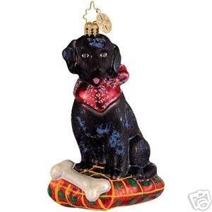 RADKO Jack Bolton Black Retriever Dog ornament NEW