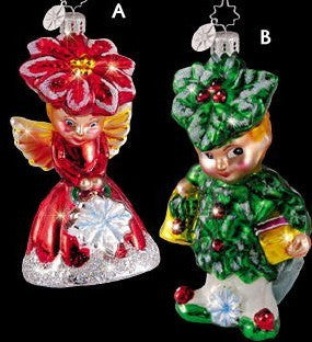 Radko JACK & MADDIE FROST Boy & Girl Elf Ornaments Set/2 couple