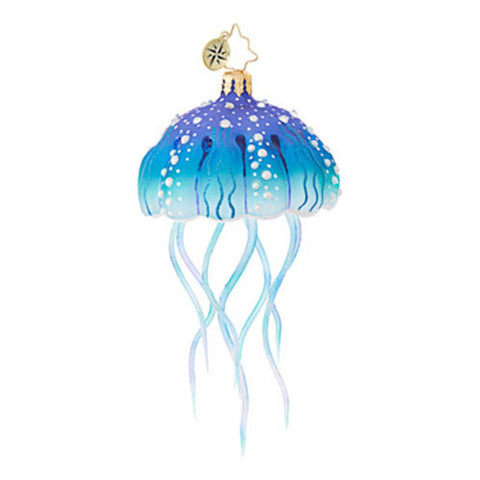 Christopher Radko JELLYFISH JOY Ocean Blue Ornament New