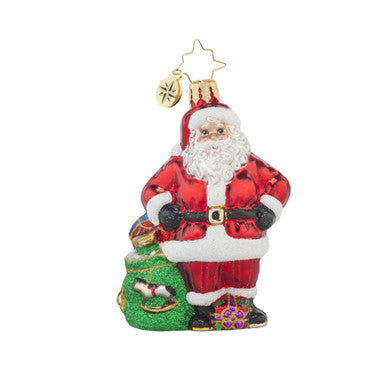 Radko Little Gems JOB WELL DONE Santa Gem ornament