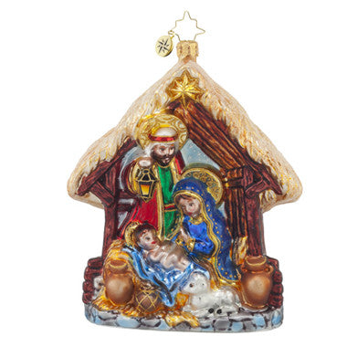 Radko JOYFUL NIGHT Holy Family Nativity ornament (Pre-Order 2017)