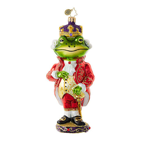 Radko JUST ONE KISS  Frog Prince Christmas Ornament NEW 2017