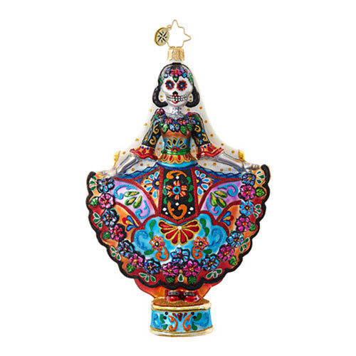 Christopher Radko La Novia Muerta Lady Day of the Dead ornament New