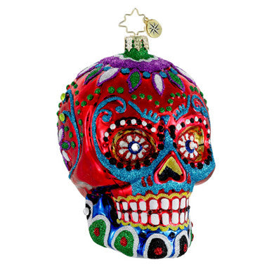 Radko LA CALAVERA Day of the Dead Red Skull ornament
