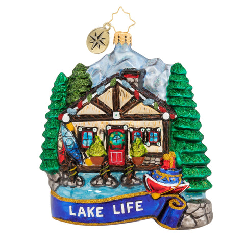 Christopher Radko Lakeside Paradise Cabin ornament