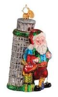 Christopher Radko SEASONS LEANINGS Tower of Pisa Italy ornament