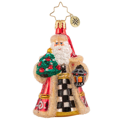 Christopher Radko Santa Lights The Way Gem Ornament
