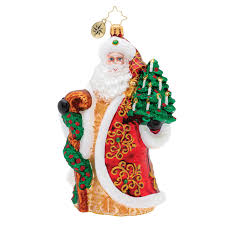 Christopher Radko Magnificent Santa Long Robe Ornament